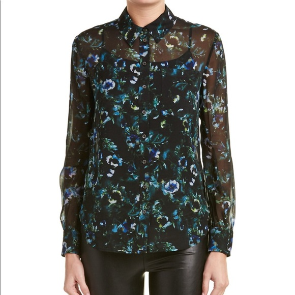 "c1e35ec51e816 Haute Hippie ""Tangled up in blue"" silk blouse"